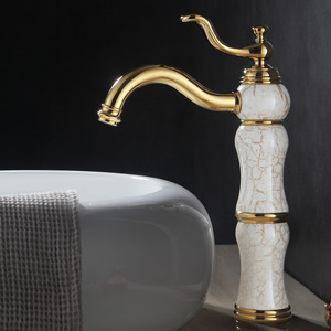 Antique Brass Single Hole Vessel Mount Faucet Bathroom