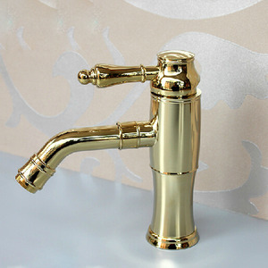 Inexpensive Brass Single Hole Lengthen Spout Bathroom Faucet