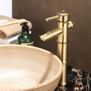 High End Brass Heightening Vessel Mount Bathroom Faucet
