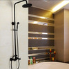 Vintage Oil Rubbed Bronze Cross Handle Rain Shower Faucet System