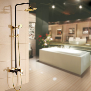 High End Brass Black Antique Bronze Shower Faucet System