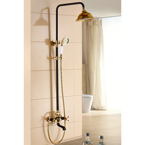 Hot Sale Brass Vintage Two Handle Shower Faucet Antique Bronze