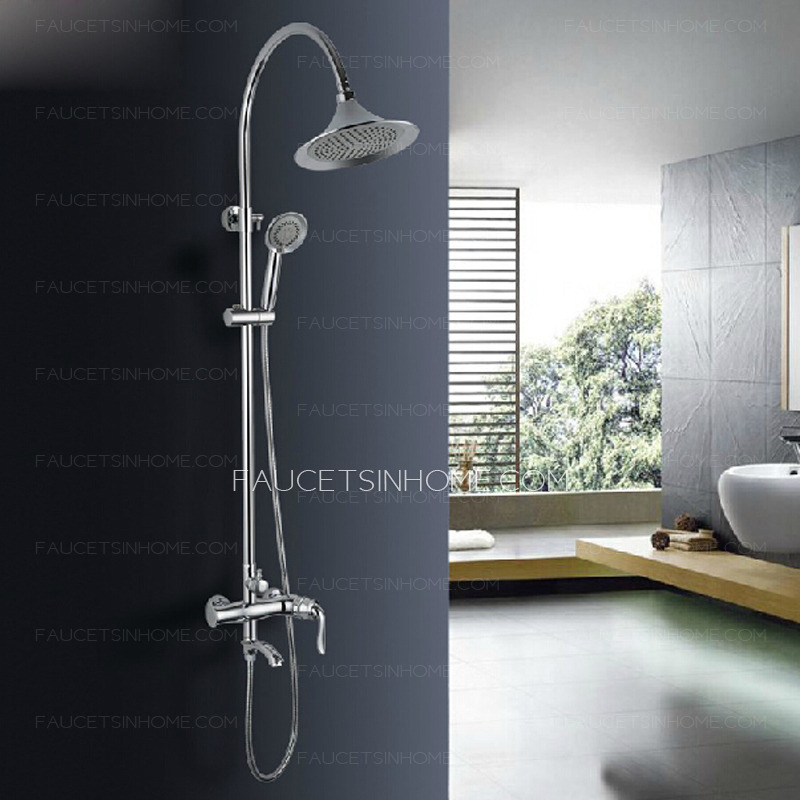 Vintage Chrome European Style Brass Outdoor Shower Faucet