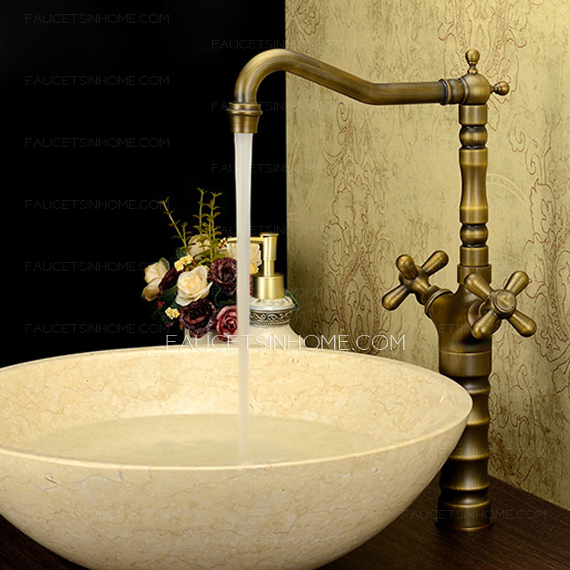 antique-bronze-vintage bathroom-faucet