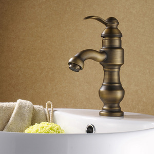 Chic Antique Bronze European-style Bathroom Faucets Single Hole