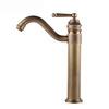 Unique Brass Antique Copper Brushed Bathroom Faucet Vessel Mount