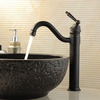 Rotatable Anqitue European Style Bathroom Faucet Oil Rubbed Bronze
