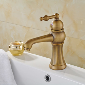 European Style Antique Copper/Brushed Single Hole Bathroom Faucet