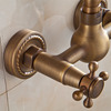 Vintage Wall Mount Two Hole Antique Copper/Brushed Bathroom Faucets