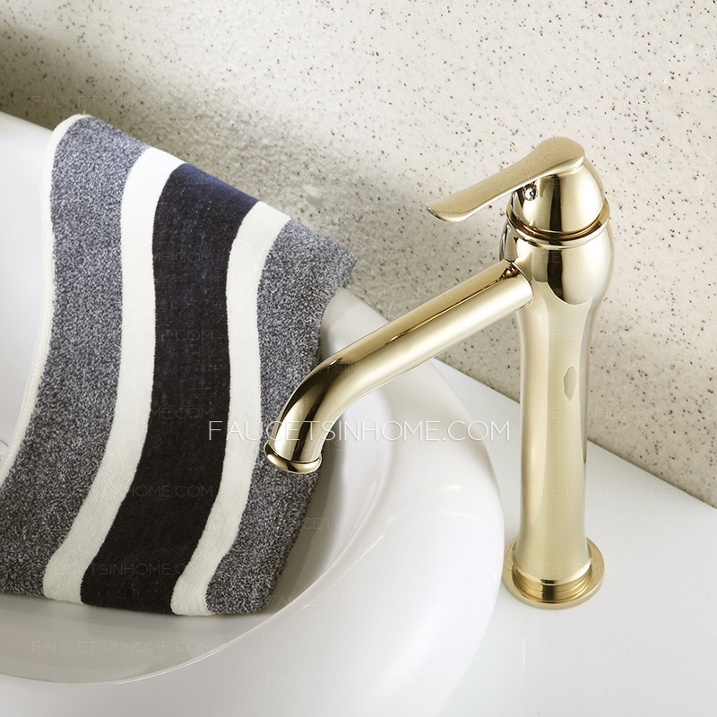 Bathroom Faucets Gold : > Bathroom Sink Faucets > Heightening Gold Polished Brass Bathroom ...