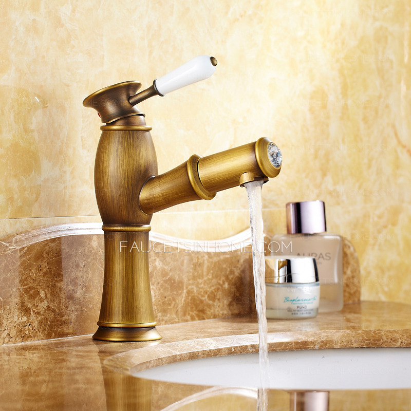 Single hole bathroom faucets