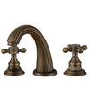 Antique Bronze Three Holes Cross Handle Bathroom Faucets