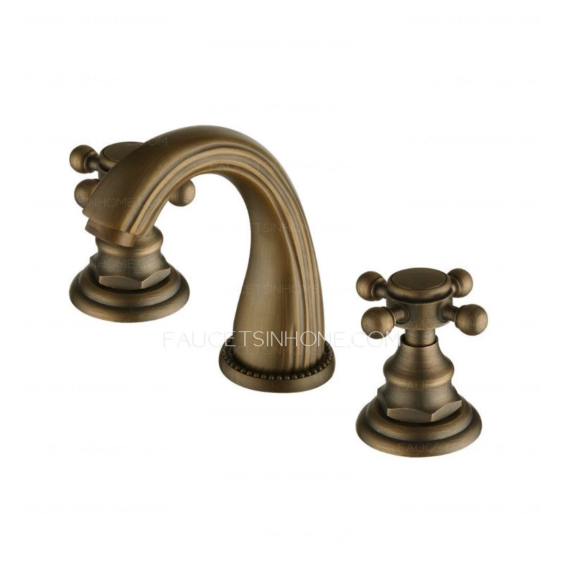 Vintage antique bronze brass brushed bathroom faucets Antique brass faucet bathroom