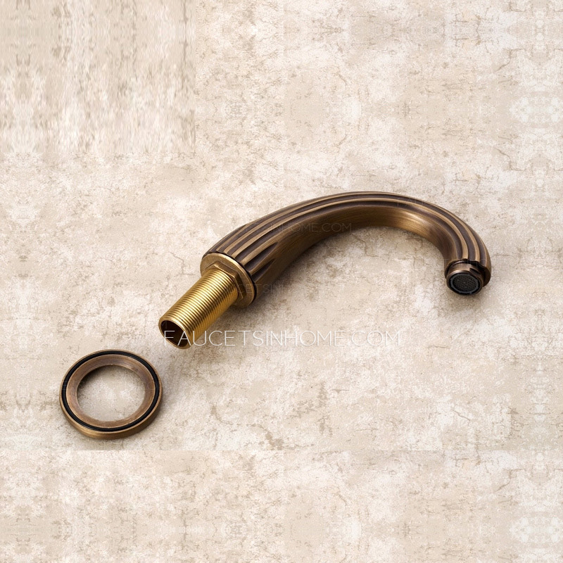 Vintage Antique Bronze Brass Brushed Bathroom Faucets