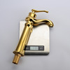 Top Sale European Style Golden Vessel Mount Bathroom Faucet