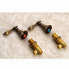 Antique Brass Three Holes Brushed Bathroom Sink Faucets