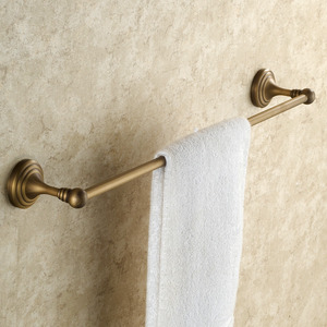 Vintage Antique Brass Brushed Single Bathroom Towel Bars