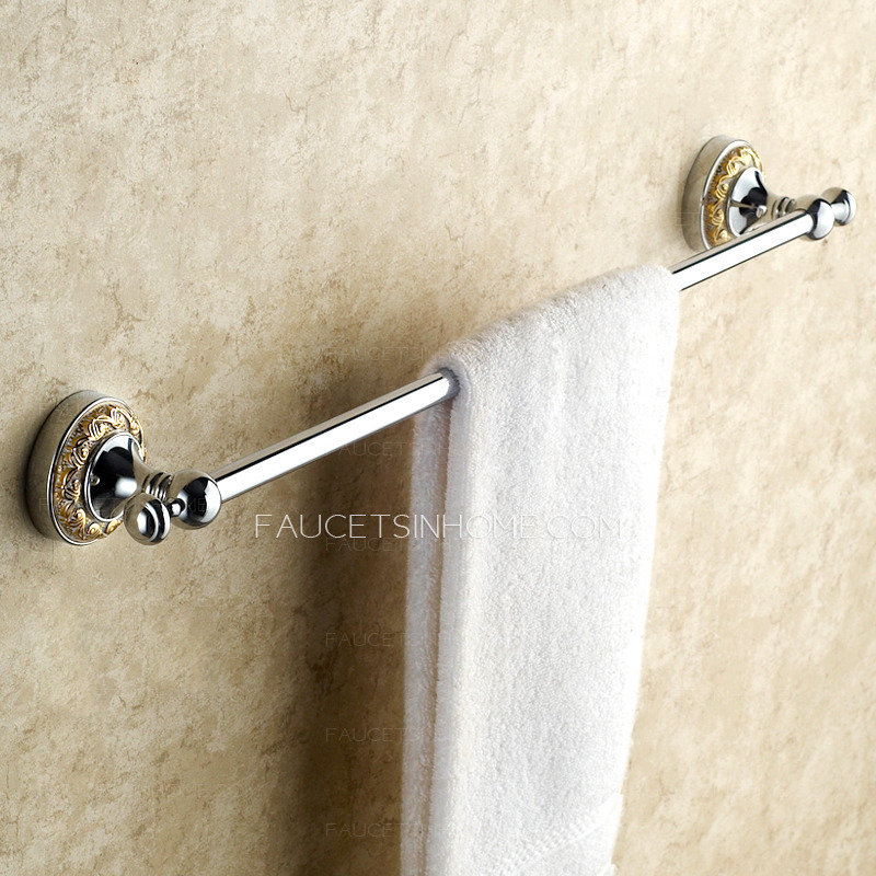 towel bars victorian style silver single towel bars for bathroom