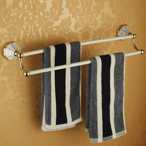 Double Brass Towel Bars With White Painting/Polished Brass
