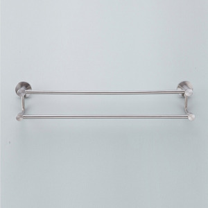 Modern Double Stainless Steel Towel Bars Brushed Nickel