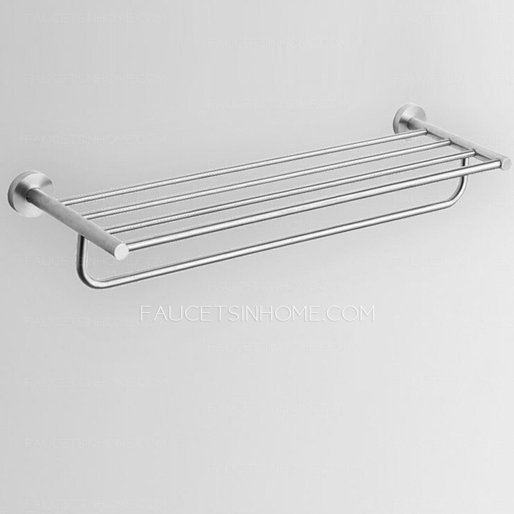 Contemporary Stainless Steel Bathroom Shelves Towel Bars Brushed Nickel