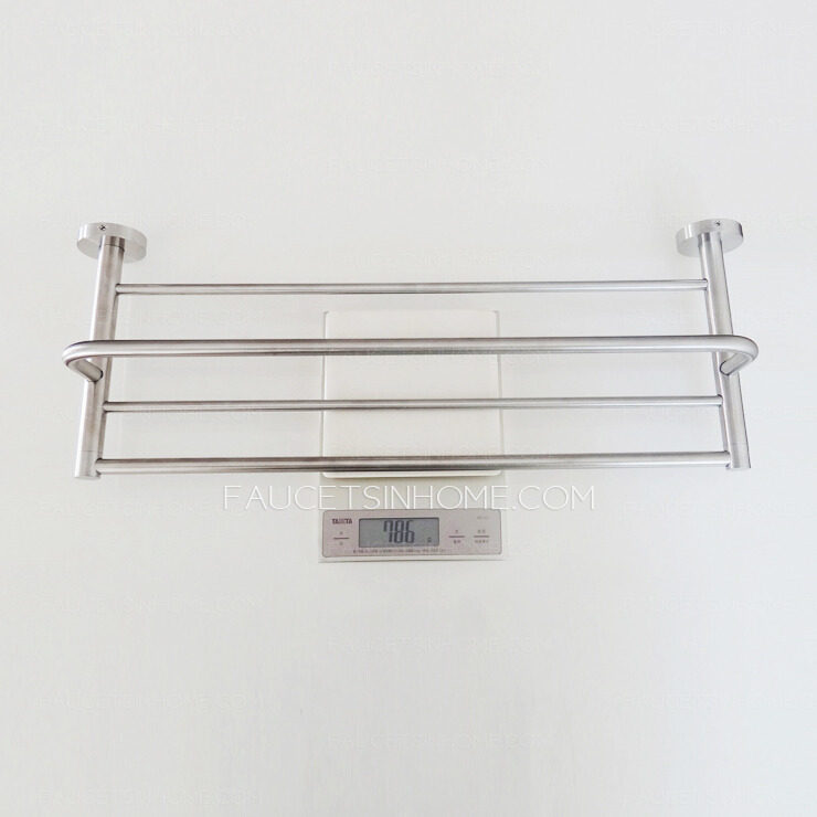 Popular  Of Glass Bathroom Shelves Brushed Nickel Image Id 33729  GiesenDesign