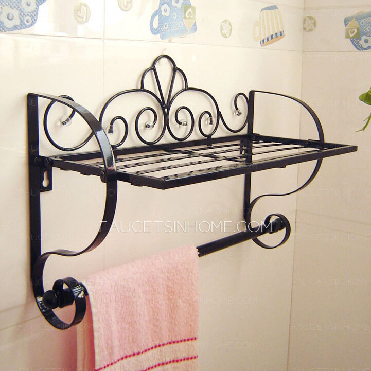 Wrought Iron Bathroom Shelves My Web Value - Wrought iron bathroom wall shelves
