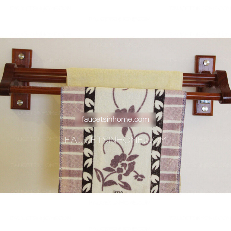 decorative wood rustic towel bars for bathroom