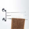Designer Brass Chrome Three Bars Rotatable Towel Rack Bars
