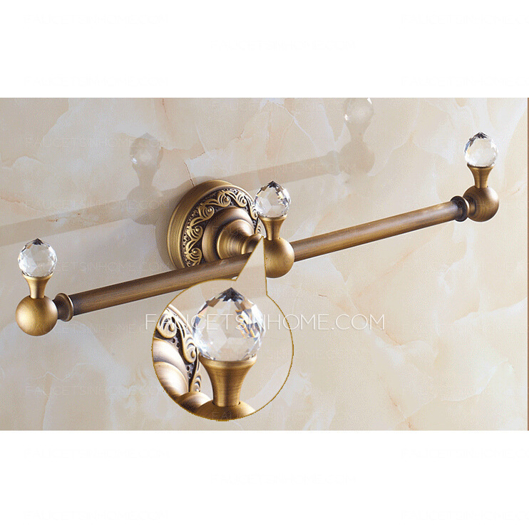 Unique Antique Brass Single Decorative Towel Bars