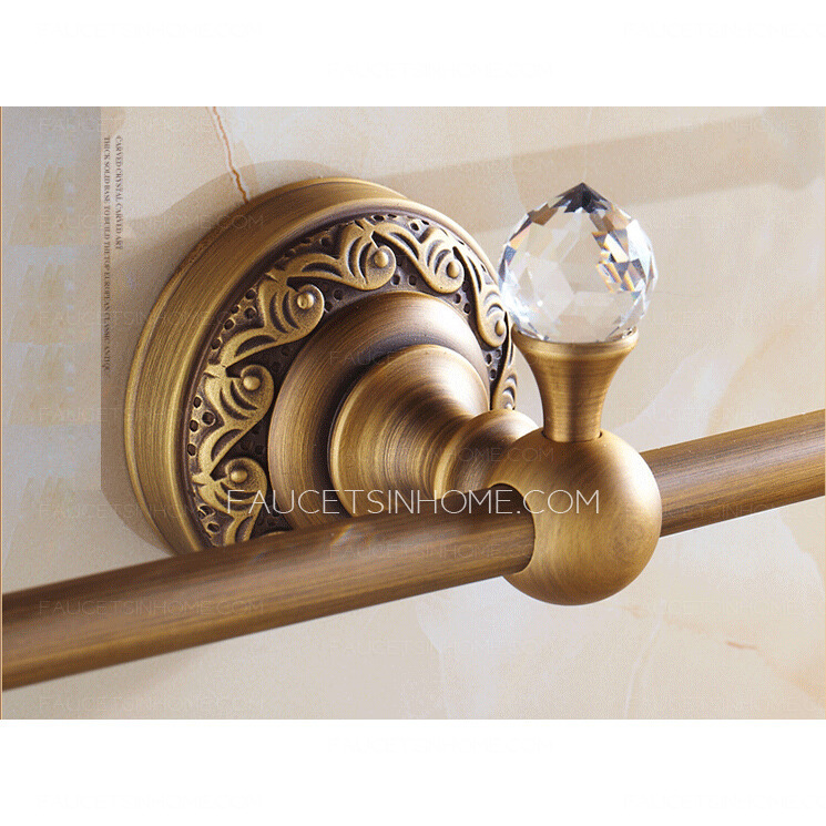 Unique Antique Brass Single Decorative Towel Bars