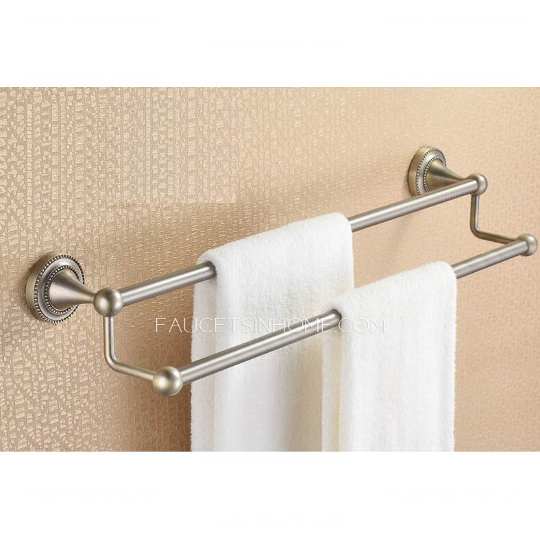 towel bars cheap vintage brushed nickel double towel bars and
