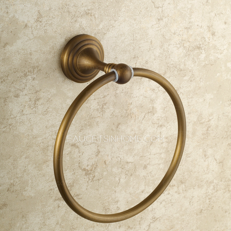 Cheap Antique Brass Vintage Towel Rings For Bathroom