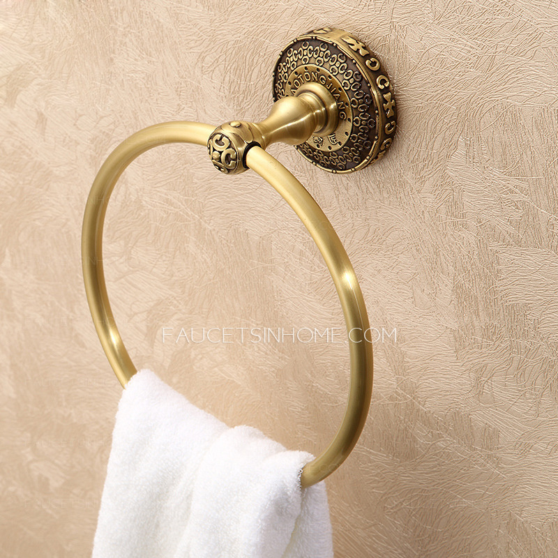 Antique Bronze Bathroom Towel Rings