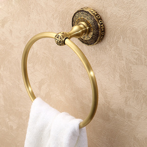 Quality Antique Bronze Designer Bathroom Towel Rings