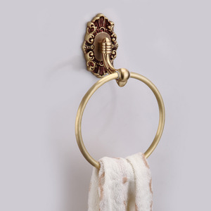 Luxury Vintage Rose Gold Round Towel Rings For Bathroom