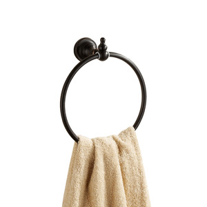 Round Black Oil Rubbed Bronze Bathroom Towel Rings