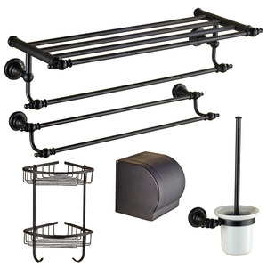European Style Oil Rubbed Bronze 5-Piece Bathroom Accessory Sets