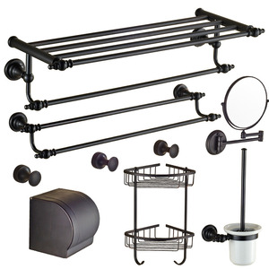European Style Oil Rubbed Bronze 7-Piece Bathroom Accessory Sets