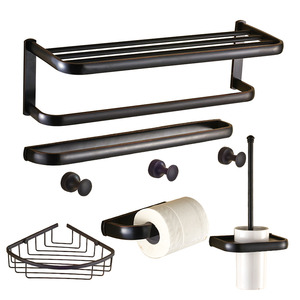 American County Style Oil Rubbed Bronze 6-Piece Bathroom Accessory Sets