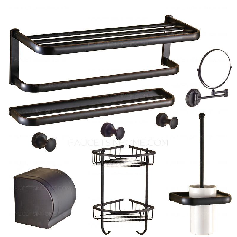American country style 7 piece oil rubbed bronze bathroom - Rubbed oil bronze bathroom accessories ...