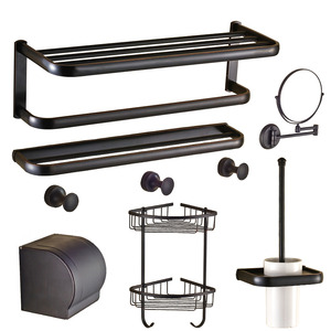 american country style 7piece oil rubbed bronze bathroom accessory sets
