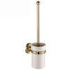 Brass Wall Mounted Ceramic Gold Toilet Brush With Holder