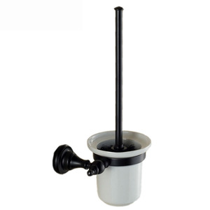 Country Style Black Wall Mounted Toilet Brush Holder