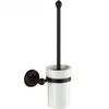 Classical Black Wall Mounted White Ceramic Toilet Brush Holder