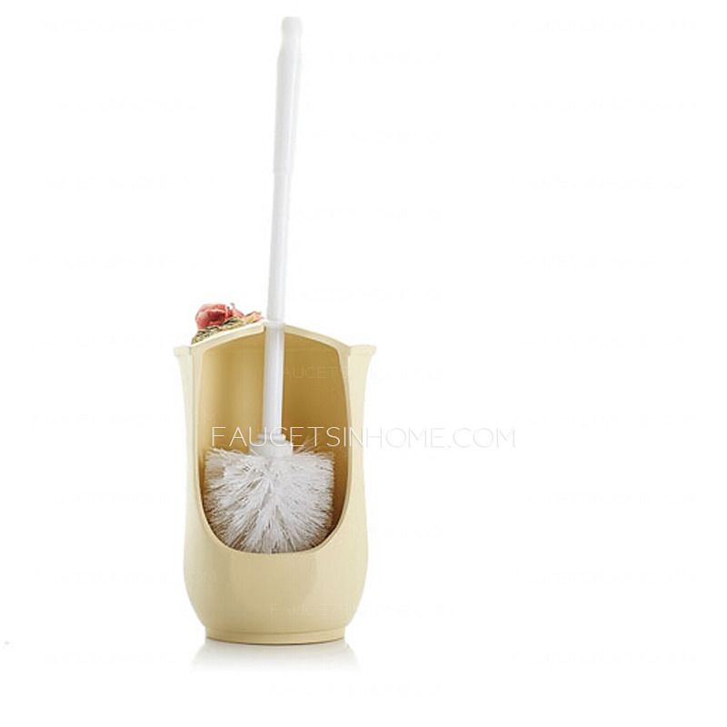 european floral carved imitation ceramic toilet bowl brush holder