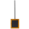 Novelty Black Stone/Plastic/Bamboo Toilet Brush And Holder