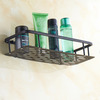Hanging Rectangle Black Oil Rubbed Bronze Bathroom Wall Shelves