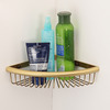 Single Triangle Wire Hanging Bathroom Corner Shelves Wall Mounted
