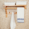 50cm Double Wood Hanging Bathroom Towel Shelves